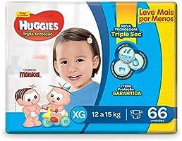 Fralda Huggies Tripla Proteção Hiper XG, 66 Fraldas
