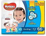 Huggies Fralda Tripla Proteção Hiper XG, 66 Fraldas