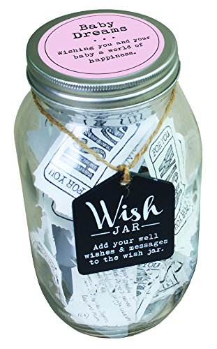 Top Shelf Pink Baby Dreams Wish Jar ; Personalized Gift for Girls ; Unique and Thoughtful Gift Ideas for Newborns ; Kit Comes with 100 Tickets and Decorative Lid