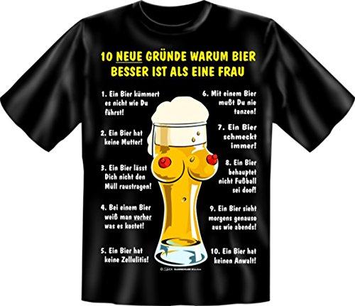 ... T-Shirt - 10 neue Gründe - Bier besser als Frau - Lustiges Sprüche Shirt