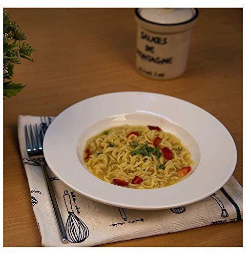Baba cart Pasta Plate/Soup Plate/Maggi PlateTableware (22 cm, 6 Plates) White Porcelain Price & Reviews