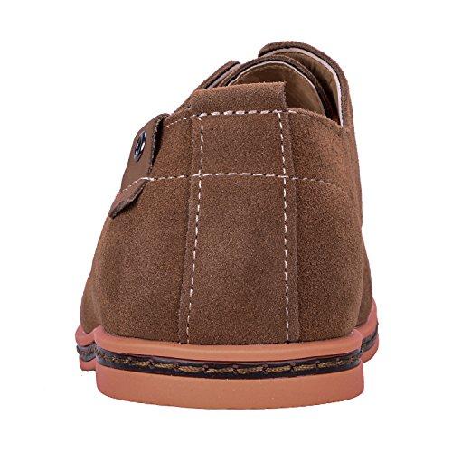 de Zapatos Cordones Zapatos con Vestir Zapatos Casuales Derby Casual Oxford Camel de Hombre WhiFan Cuero xP5wSPd1