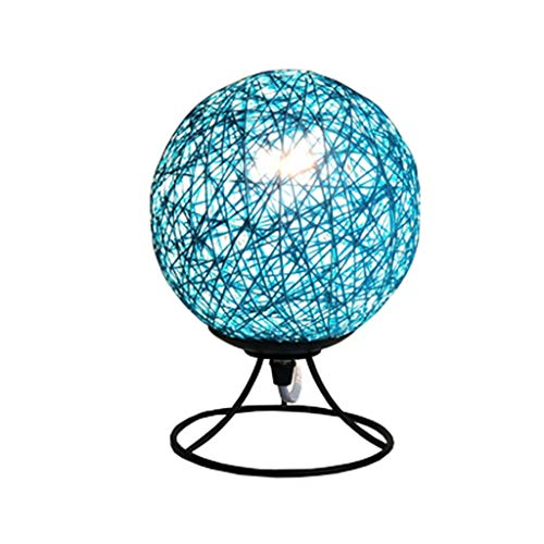 (Woven Ball Wrought Iron Table Lamp Living Room Bedroom Bedside Lamp Simple Modern Romantic Creative)
