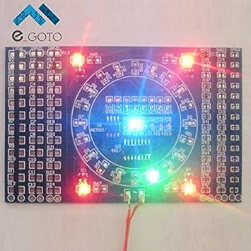 DIY Kit soldadura SMD LED giratoria intermitente Componentes Práctica Junta Skill circuito electrónico formación suite 90 x 60 x 1,6 mm: Amazon.es: ...