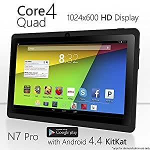 NeuTab® N7 Pro 7'' Quad Core Google Android 4.4 KitKat Tablet PC, HD 1024X600 Display, Bluetooth, Dual Camera, Google Play Pre-loaded, 3D-Game Supported (Black)