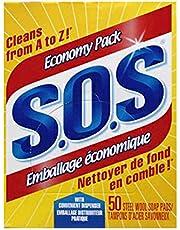 SOS Steel Wool Soap Pads, 50 Count