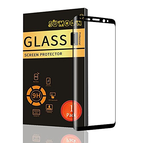 Galaxy S9 Plus Screen Protector, SUMOON-[3D Curved] [Bubble-Free] [HD-Clear] [Anti-Scratch] [Anti-Glare] [Anti-Fingerprint] Premium Tempered Glass Screen Protector for Samsung Galaxy S9 Plus (1 Pack) (Cart Print Battery)