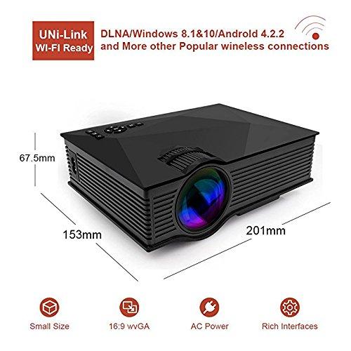 GUORZOM Mini Proyector Portátil UC46 Multimedia Home Cinema ...