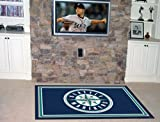 """Fanmats Home Indoor sports Team Logo Mat Seattle Mariners 4x6 Rug (46""""x72"""")"""