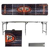 NCAA Auburn University Tigers Weathered Version 8 Foot Folding Tailgate Table,1234,Multi