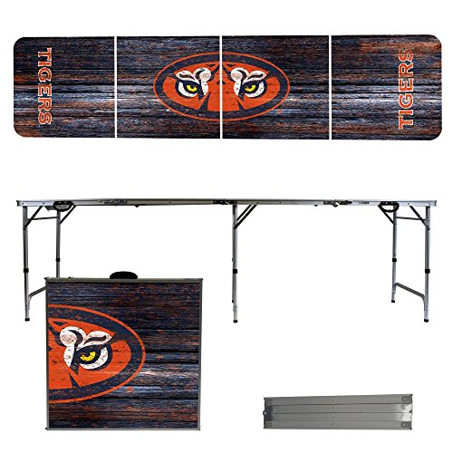 NCAA Auburn University Tigers Weathered Version 8 Foot Folding Tailgate Table,1234,Multi by Victory Tailgate
