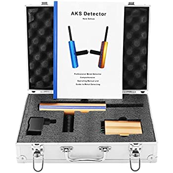 Happybuy AKS Gold Metal Detector Long Search Range AKS 3D Gold Detector Professional Metal Detector Search Range 3280ft Detecting Depth 46ft (AKS 3D Gold ...