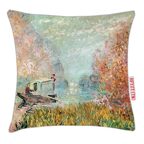 HFYZT Boat Studio on The Seine Pillow Cover