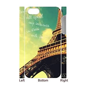 Eiffel Tower iPhone 4,4S 3D Cell Phone Case, Eiffel Tower Custom 3D Phone Case, iPhone 4,4S DIY Case