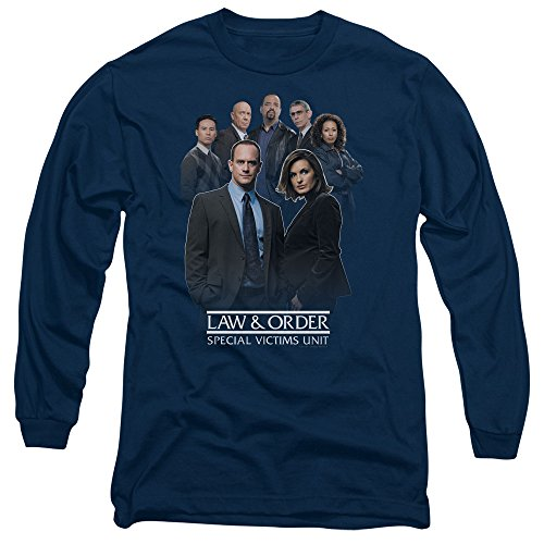Law and Order SVU Team Unisex Adult Long-Sleeve T Shirt for Men and Women, Medium Navy