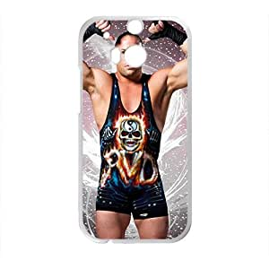 Happy WWE Wrestling Fighter White Phone Case for HTC One M8
