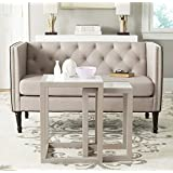 Safavieh Home Collection Egan White and Grey Nesting Tables