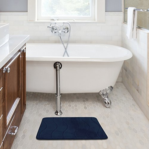 Spa Retreat Memory Foam Bath Mat Rug Set Non Skid