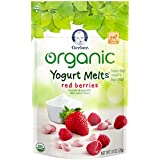 Gerber Organic Yogurt Melts Fruit Snacks, Red Berries, 1 Ounce (Pack of 7)