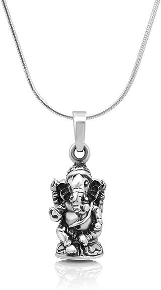 Charmin Pendant 1 Pcs Fancy Ganesh Look Design 925 Sterling Silver Black Oxidize Lovely Pendant Vintage Pendant Indian Lord Pendant
