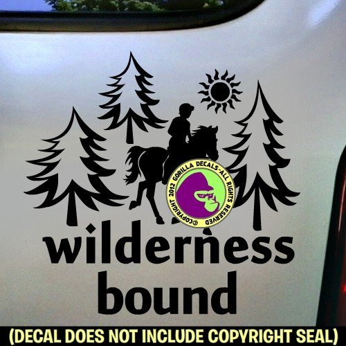 WILDERNESS BOUND HORSE RIDER Camping Riding Vinyl Decal Sticker E