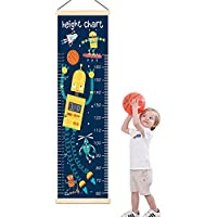 Panda_mall Baby Height Growth Chart Ruler Kids Roll-up...