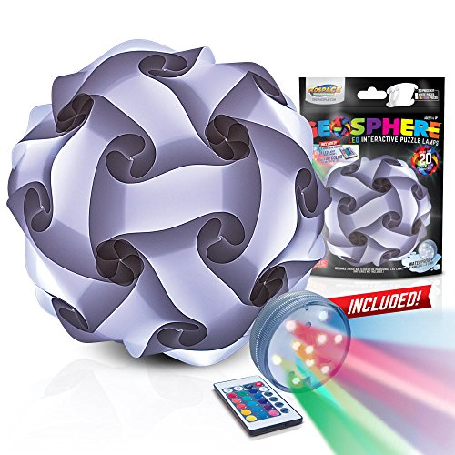 GEOSPHERE 16 Inch - 30 pc White Lamp Kit complete with wireless LED light