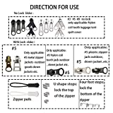 Zipper Repair Kit 255 Pcs Zipper Replacement Rescue Kit with Zipper Install Pliers Tool and Zipper Extension Pulls for Clothing Jackets Purses Luggage Backpacks Tents Sleeping Bag
