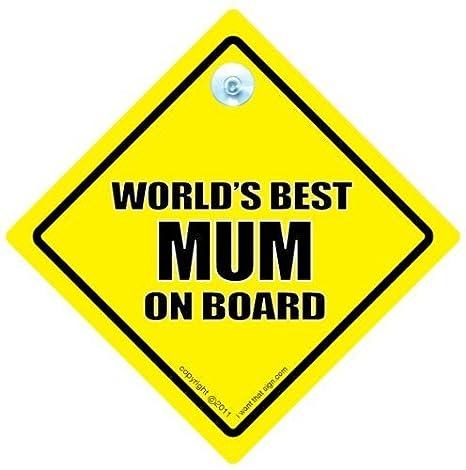 Mejor madre del mundo a bordo señal de coche, mejor mamá del ...