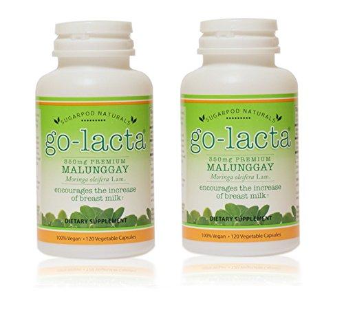 Go-Lacta Premium Malunggay (Moringa oleifera Lam.) Breastfeeding Supplement Clinically Proven to Support Lactation (240 Capsules)