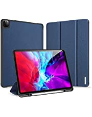 Case for  iPad Pro 12.9 Inch 4th Generation 2020 with Pencil Holder, Full Body Protective Rugged Shockproof Cover with Auto Sleep/Wake, Support 2nd Gen Pencil Charging,blue