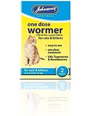 Johnson s una dosis Wormer para Gatos y Gatitos, 2 Piezas