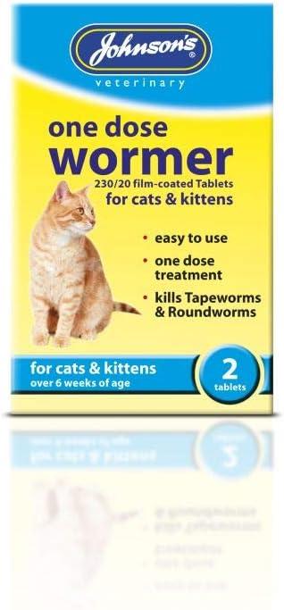 Johnsons One Dosis Wormer para Gatos y Gatitos, 2 Piezas: Amazon ...