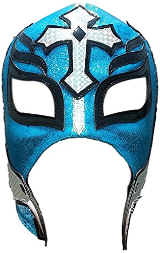 Rey Mysterio Blue Costume (Rey Mysterio Professional Lucha Libre Mask Adult Size Blue WIth Hologram)