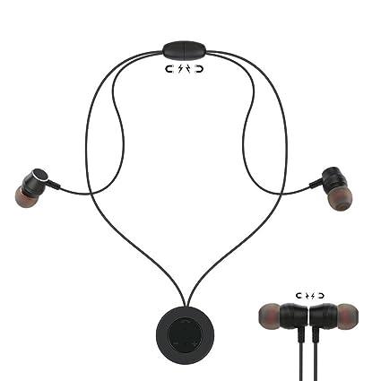 Diadia - Auriculares inalámbricos a prueba de sudor magnéticos, con colgante de movimiento Bluetooth para