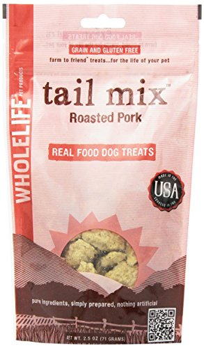 Whole Life Pet Tail Mix Real Food Treats for Dogs-Roasted Pork, 2.5oz