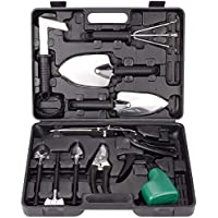 BNCHI 12 Pieces Stainless Steel Portable Garden Tool Sets