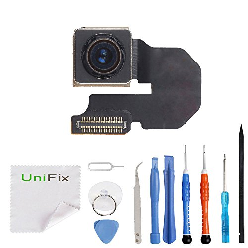 """Unifix Back Rear Main Camera Replacement Part for iPhone 6S 4.7"""" (All Carriers) with Premium Toolkit"""