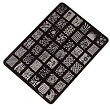 Changeshopping Nail Stamping Printing Plate Manicure Nail Art Decor Image Stamps Plate