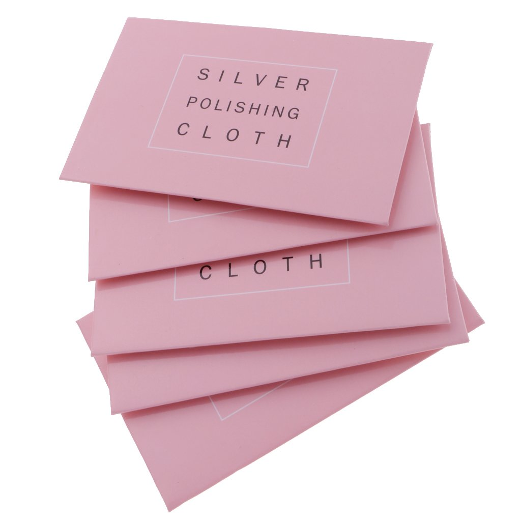D DOLITY 5pcs Cleaning Cloth Polishing for Sterling Silver Gold Platinum Anti-Tarnish