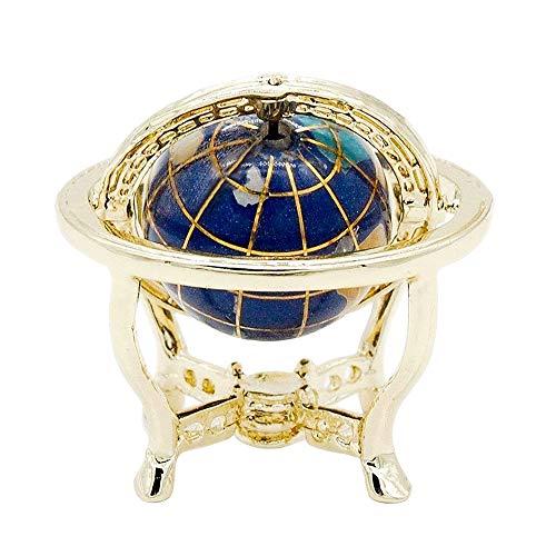 Odoria 1:12 Miniature Globe With Golden Stand Rolling Globe Dollhouse Furniture Accessories