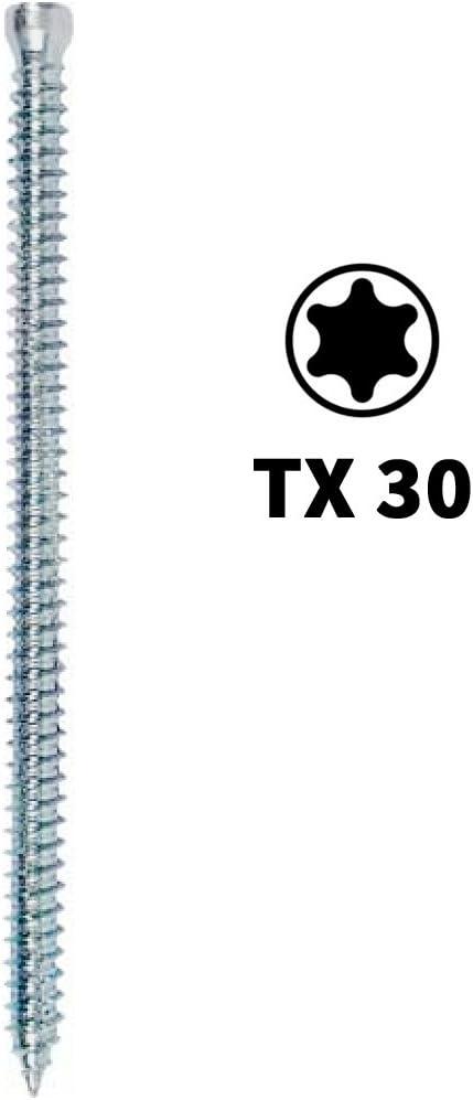 100 St/ück Fensterrahmenschrauben Zylinderkopf Torx TX30 7,5 x 42-7,5 x 212 mm 7,5 x 72