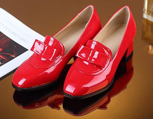 Enfiler Femme Rouge Noeud Mignon Aisun Banquet Fermeture à Escarpins qwFXxE8d