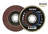 20 New 4.5'' 40 Grit Aluminum Oxide Flat Flap Disc Grinding Sanding Wheels