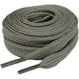 Big Laces Flat Light Grey Shoelaces Laces