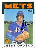 Autograph Warehouse 27071 Jesse Orosco Autographed Baseball Card New York Mets 1986 Topps Baseball Card No. 465
