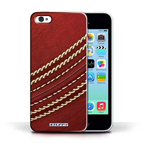 Kobalt® Imprimé Etui / Coque pour Apple iPhone 5C / Cricket conception / Série Balle Sportif