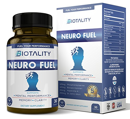 Biotality Neuro Fuel Brain Booster – Nootropic and Brain Function Supplement to Boost Memory and Focus – Formulated for Peak Mental State and Balance the Mind