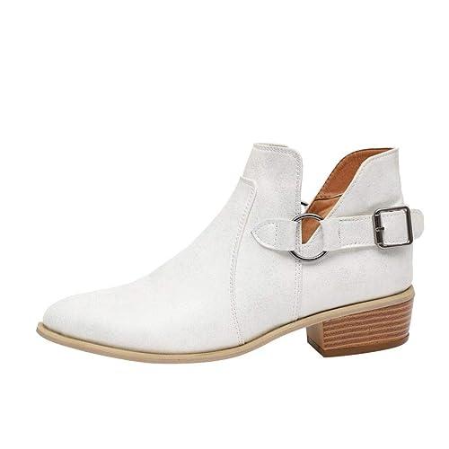 Mocasines Botas de Punta en Punta Casual de Mujer, QinMM Zapatos clásicos de Martain de Invierno de otoño Botines Merceditas: Amazon.es: Zapatos y ...