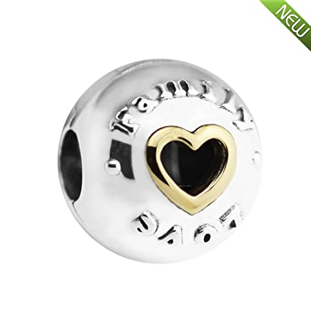 01764cf7c PANDOCCI 2017 Mother Gift DIY Fits for Pandora Bracelets Family & Love Heart  Clip Beads, 100% 925 Sterling Silver Charms Making Jewelry: Amazon.co.uk:  ...